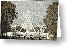 Jardin Des Tuileries Park Paris France Europe  Greeting Card by Jon Boyes