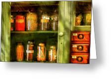 Jars - Ingredients II Greeting Card by Mike Savad