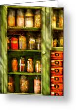Jars - Ingredients II Greeting Card by Mike Savad