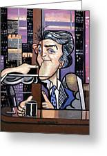 Jay Leno You Been Cubed Greeting Card by Anthony Falbo