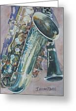 Jazz Buddies Greeting Card by Jenny Armitage
