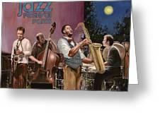 jazz festival in Paris Greeting Card by Guido Borelli