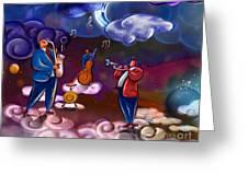 Jazz In Heaven Greeting Card by Bedros Awak