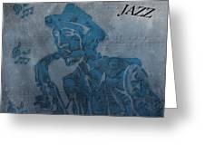 Jazz Man Greeting Card by Dan Sproul