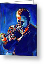 Jazz Man Miles Davis Greeting Card by Vel Verrept