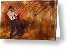 Jazz Nrg Greeting Card by Bedros Awak