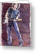 Jazz Rock John Mayer 01 Greeting Card by Yuriy  Shevchuk