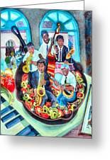 Jazz Saute' Greeting Card by Lisa Tygier Diamond