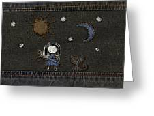 Jeans Stitches Greeting Card by Gianfranco Weiss