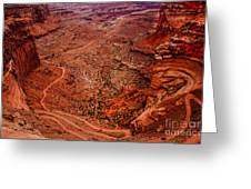 Jeep Trails Greeting Card by Robert Bales