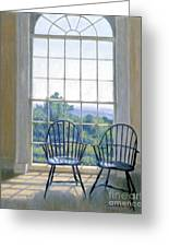Jefferson And A Friend At Monticello Greeting Card by Candace Lovely