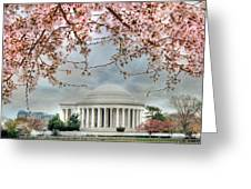 Jefferson Blossoms Greeting Card by Lori Deiter
