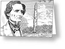 Jefferson Davis Monument Greeting Card by Robert A Powell