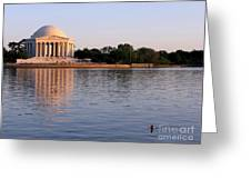 Jefferson Memorial Greeting Card by Olivier Le Queinec