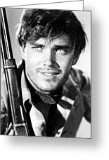 Jeffrey Hunter In The Searchers Greeting Card by Silver Screen