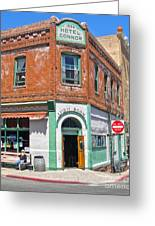 Jerome Arizona - Hotel Conner - 02 Greeting Card by Gregory Dyer