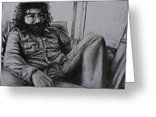 Jerry Garcia In '72 Greeting Card by Leandria Goodman