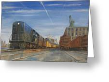 Jersey Central Lines Greeting Card by Christopher Jenkins