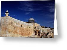 Jerusalem Greeting Card by Kobby Dagan