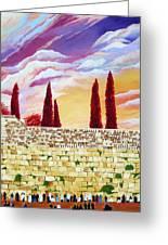 Jerusalem Prayers Greeting Card by Dawnstarstudios