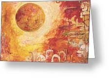 Jerusalem The Centrifugal Force Greeting Card by Hanna Fluk