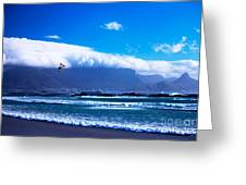 Jesse - Redbull King Of The Air Cape Town - Table Mountain Greeting Card by Charl Bruwer