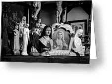 Jesus And Mary At The Curio Shop Greeting Card by Bob Orsillo
