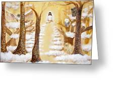 Jesus Art - The Christ Childs Asleep Greeting Card by Ashleigh Dyan Bayer