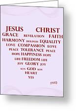 Jesus Christ Message Greeting Card by Georgeta  Blanaru