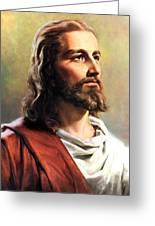 Jesus Christ Greeting Card by Munir Alawi