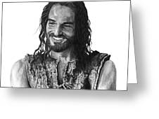 Jesus Smiling Greeting Card by Bobby Shaw