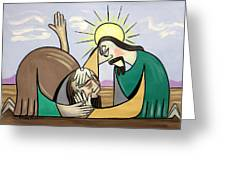Jesus Will Meet You Where You Are Greeting Card by Anthony Falbo