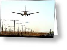 Jets Coming And Going Greeting Card by Deborah Smolinske