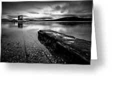 Jetty To Castle Stalker Greeting Card by Dave Bowman