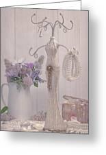 Jewellery And Pearls Greeting Card by Amanda And Christopher Elwell