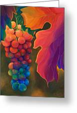 Jewels Of The Vine Greeting Card by Sandi Whetzel