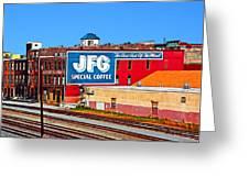 Jfg Coffee Greeting Card by Steven  Michael