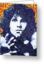 Jim Morrison Chuck Close Style Greeting Card by Joshua Morton