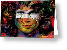 Jim Morrison Greeting Card by Mark Ashkenazi