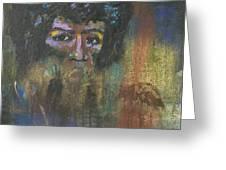 Jimi Hendrix Greeting Card by Vic  Mastis