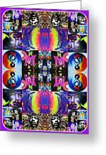 'jimi Kaleidoscope I' Greeting Card by Christian Chapman Art