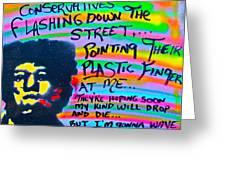 Jimi's Freak Flag Greeting Card by Tony B Conscious