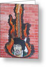 Jimmy Hendrix And Guitar Greeting Card by Jeepee Aero