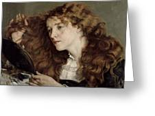 Jo The Beautiful Irish Girl Greeting Card by Gustave Courbet