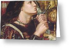 Joan Of Arc Kisses The Sword Of Liberation Greeting Card by Philip Ralley