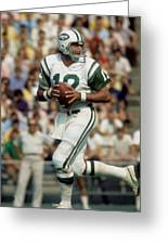 Joe Namath Greeting Card by Paint Splat