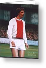 Johan Cruijff Greeting Card by Paul Meijering