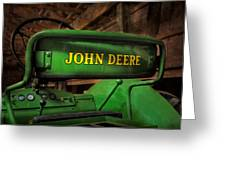 John Deere Tractor Greeting Card by Susan Candelario