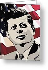 John F. Kennedy 1st Irish Catholic President  Greeting Card by Dancin Artworks