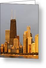 John Hancock Center Chicago Greeting Card by Adam Romanowicz
